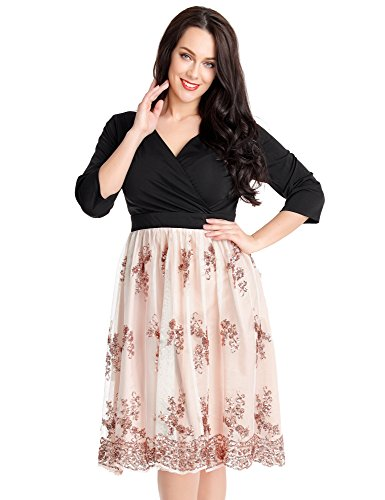77c58f95ae17 A line cut is flattering for most body types, including plus size women.  Comes with 3/4 sleeves and high waist belt to accentuate your curves.