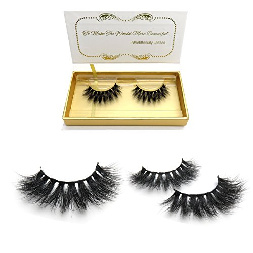 bc00c4fb136 100% Siberian 3D Mink Fur False Lashes HandMade Wispy Natural Thick  Reusable Mink Fake Eyelashes