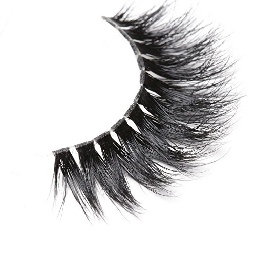a1ae0d1e900 Arimika 3D Mink Eyelashes -Clear Invisible Flexible Band,Glamorous Dramatic  Looking,Reusable with Proper Care,ZT40. Natural looking black strip lashes.