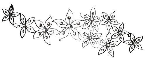 Deco 79 Black Metal Wall Decor With Ivory Colors Glass