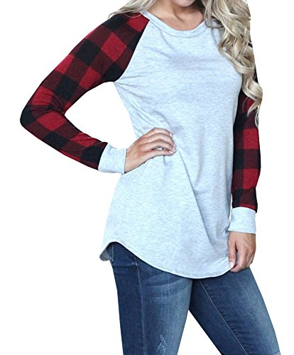 d155e25f06c Really great fall winter tops for women juniors girls. Casual sweatshirts  with crew neck and raglan long sleeve ...