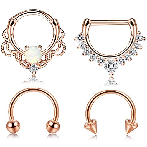 how to put in a nose hoop with gem